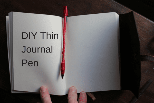 Travel hack DIY journal pen