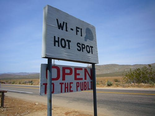 WiFi hotspot open to the public