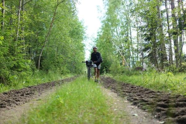 Dirt roads in Sweden