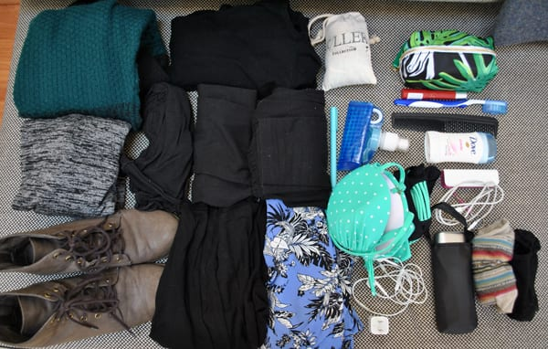 Packing in a daypack