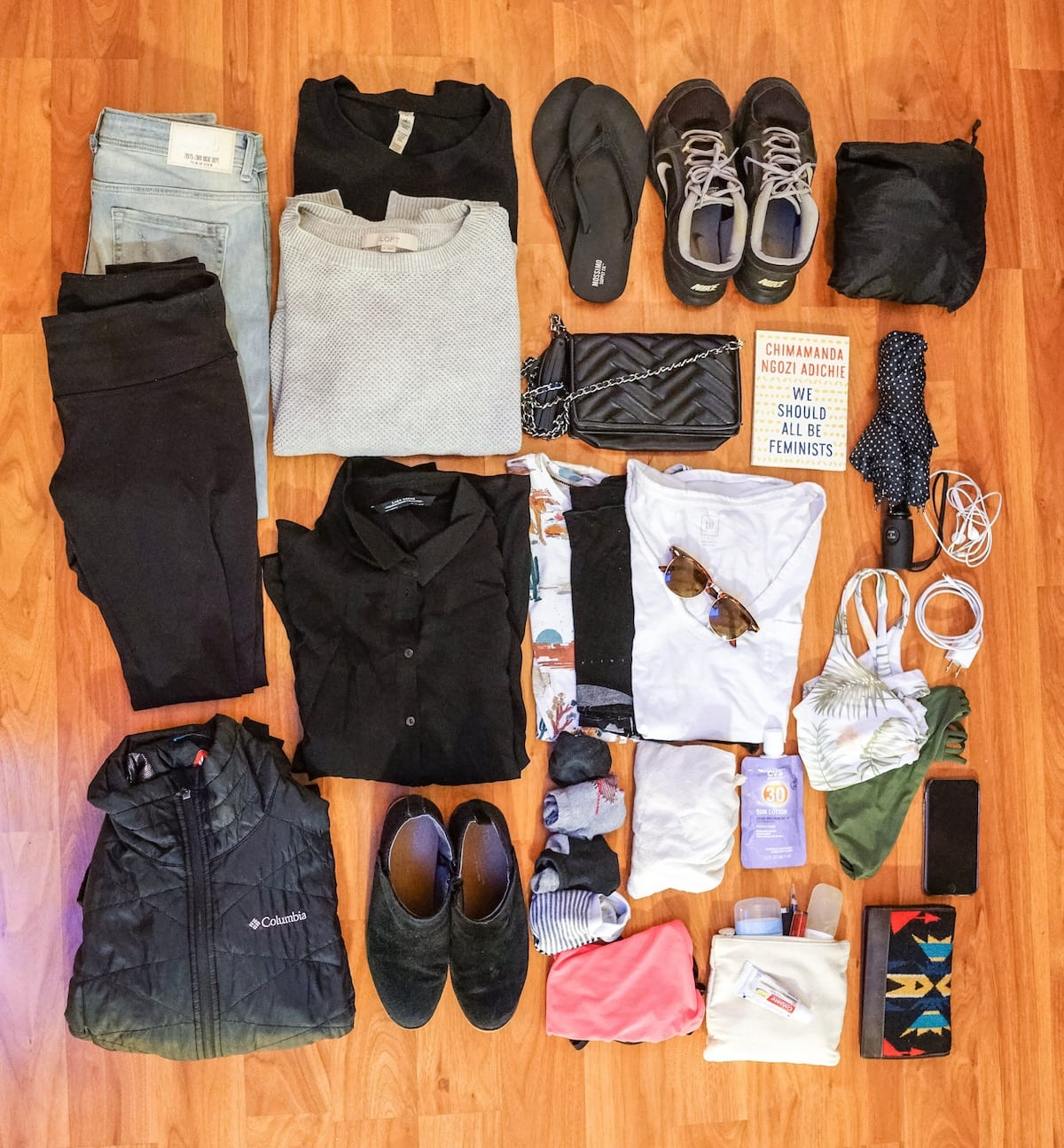 San Francisco packing list