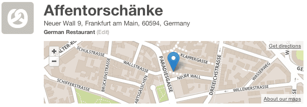 Affentorschanke Frankfurt Germany on Foursquare