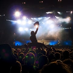 Crowdsurfing at Metallica concert