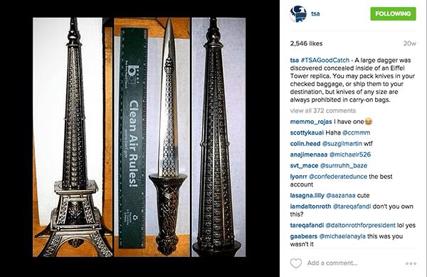 eiffel tower dagger