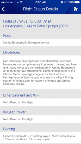 in-flight entertainment and power in united app