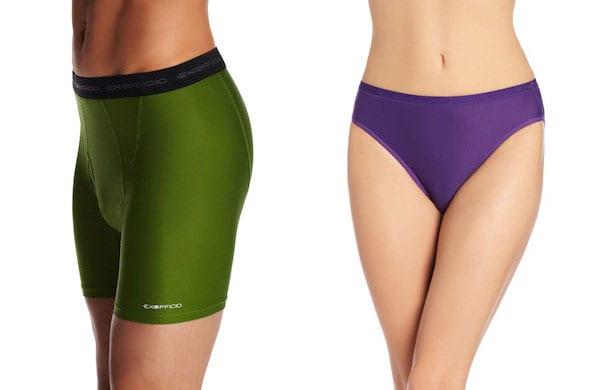 ExOfficio travel underwear for men and women