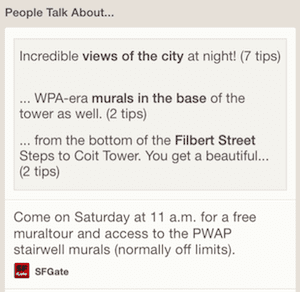 Foursquare tips at Coit Tower