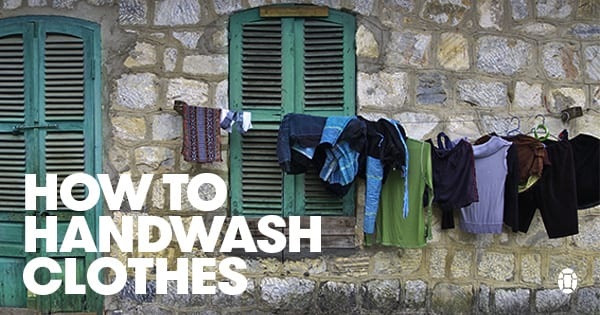 Post image for An Illustrated Guide to Hand Washing Clothes While Traveling