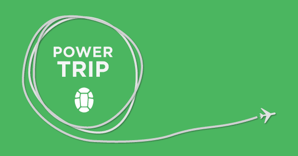 Power Trip Travel Podcast logo banner