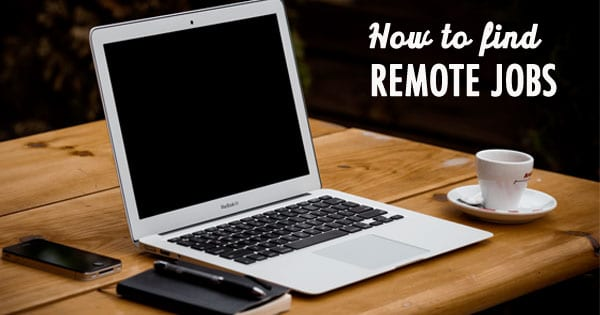 How to find remote jobs