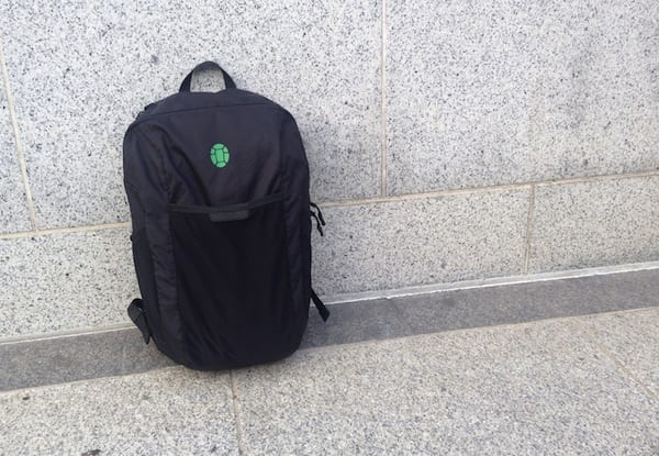 Tortuga Packable Daypack on sidewalk