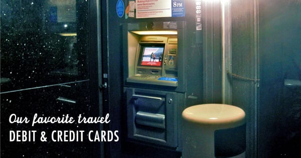 Travel debit and credit cards