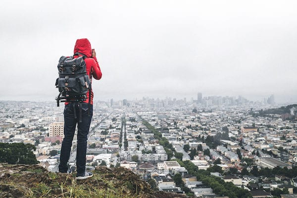 the view of city hills microadventures