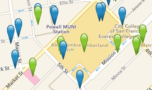 Wi-Fi Finder app map