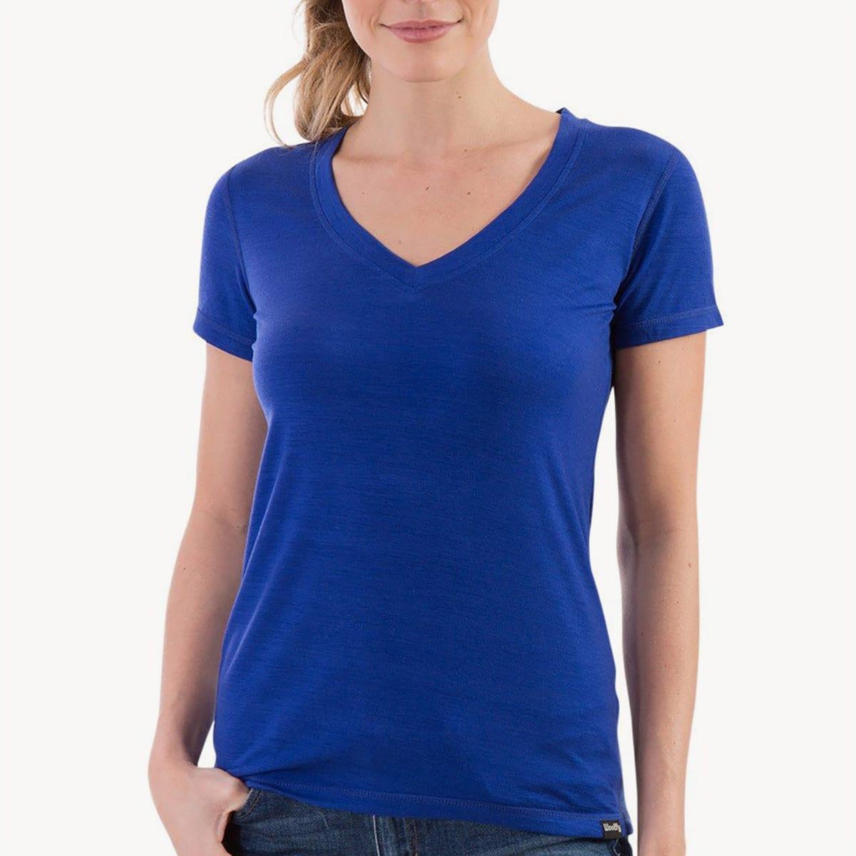 Best Merino Wool T-shirt for Hiking: Woolly Ultralight V-Neck T-shirt ($50)