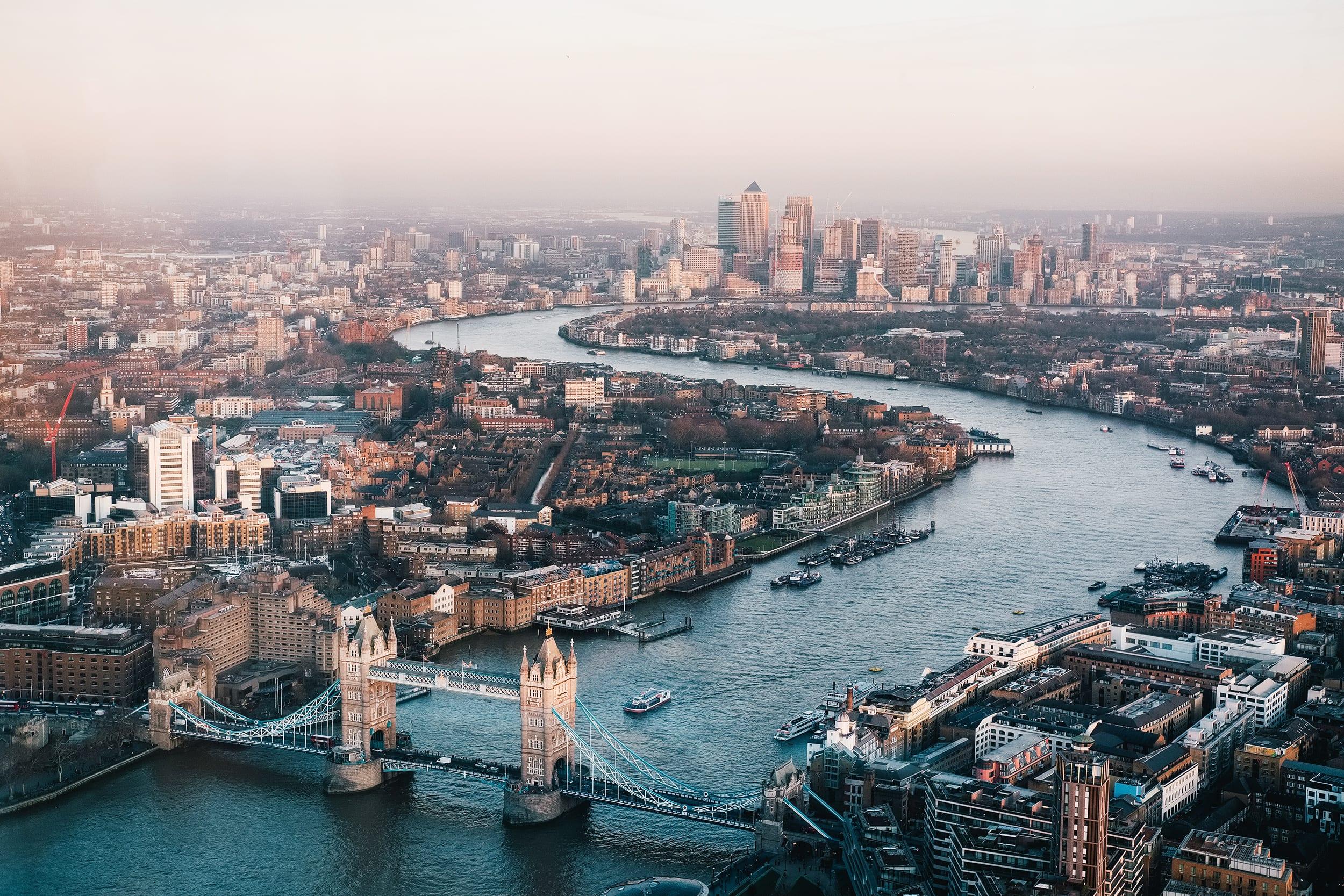 an overhead shot of London