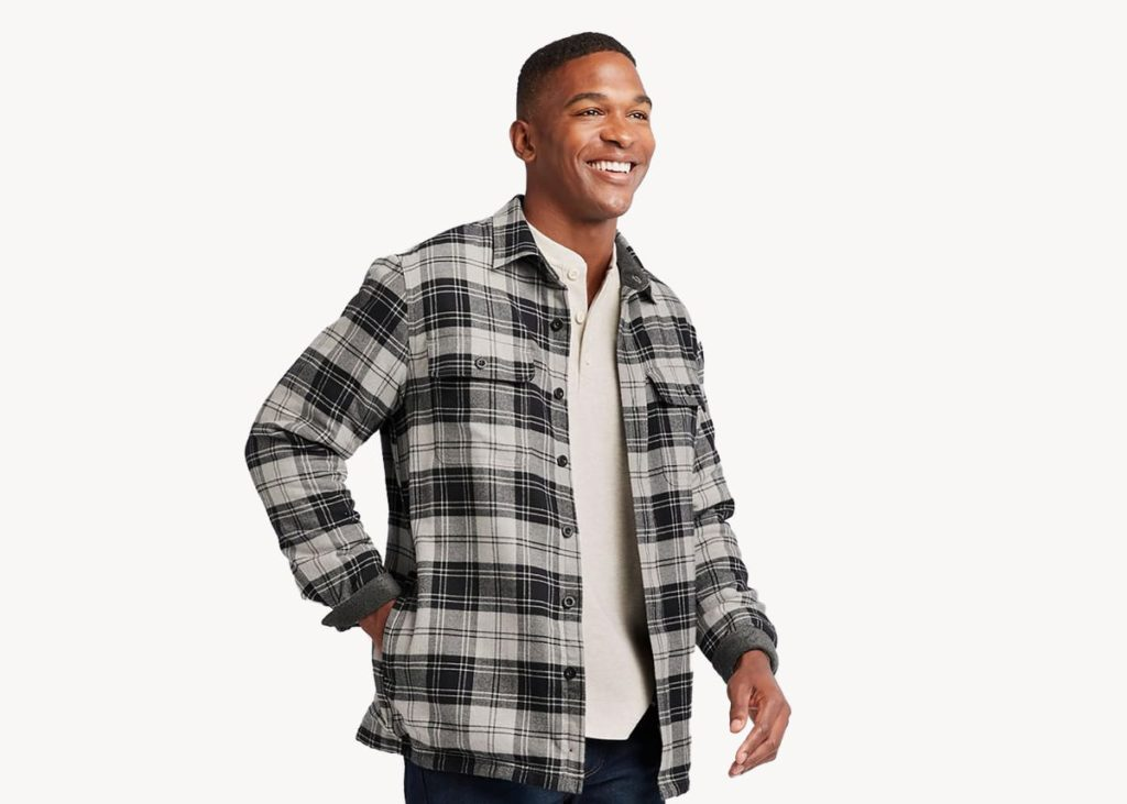 LL bean fleece lined flannel mens review