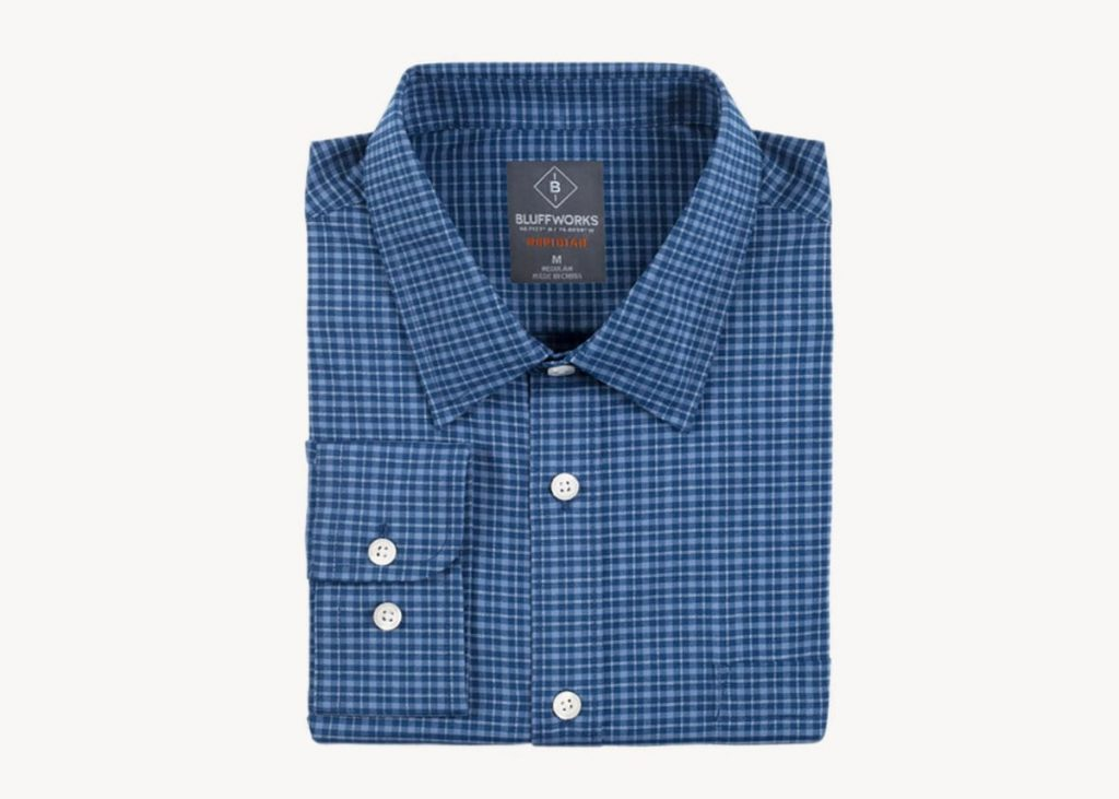 Bluffworks travel dress shirt