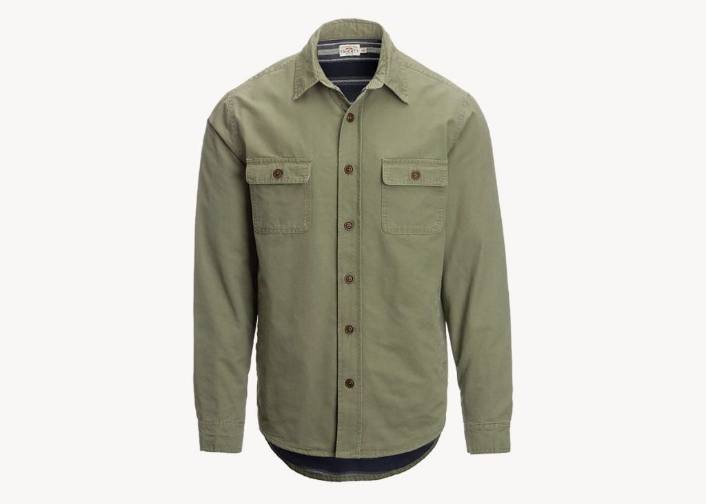 Faherty blanket lined CPO jacket