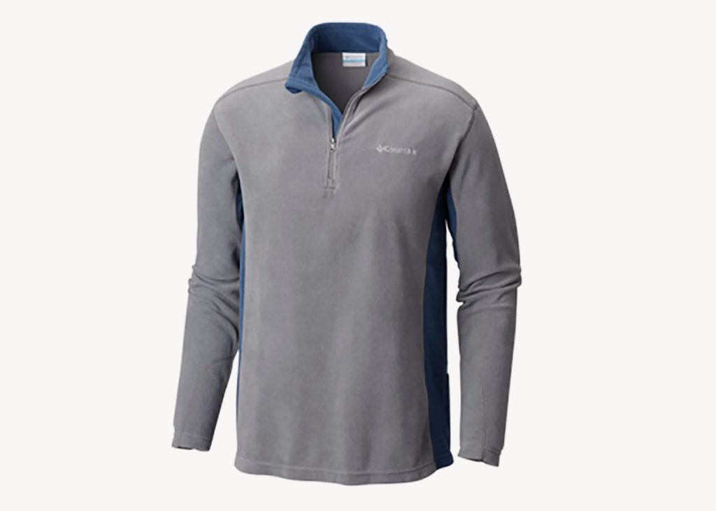 Columbia klamath range half zip travel fleece