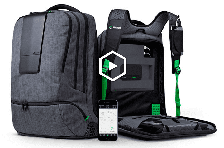 d58225468 Digital nomads are all about portable power. The Ampl Smart Backpack is  designed with that in mind; featuring a whole suite of customizable  built-in ...