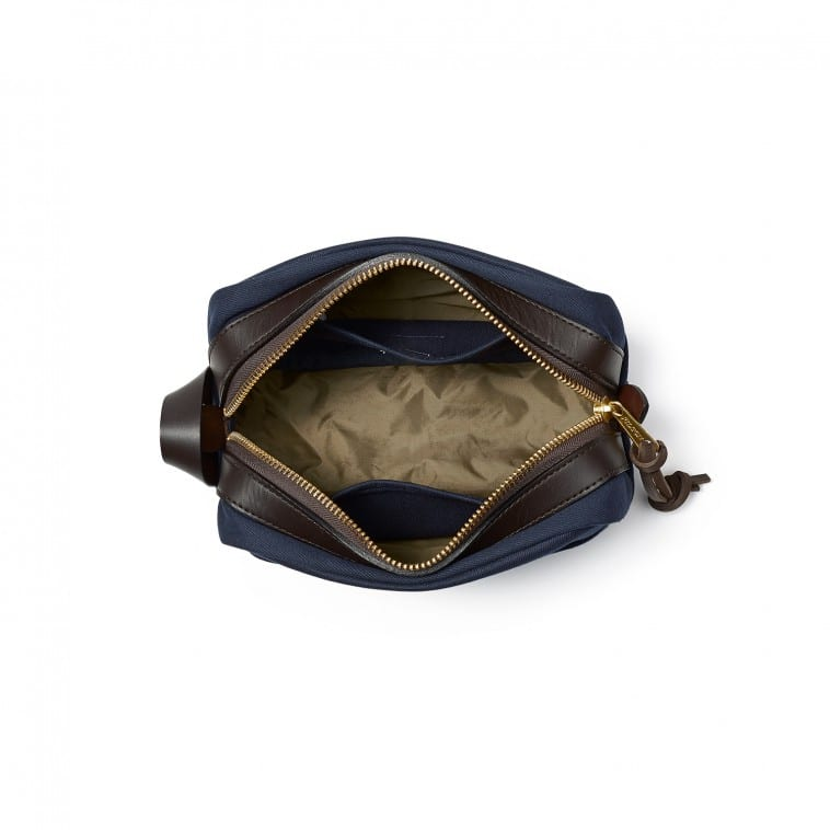 4a129decf0c6 Any toiletry bag over  100 has to be quality. Filson totally is. Made from  water-repellent material with bridle leather accents (like the zipper  pulls)