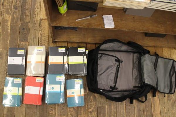 travel with moleskin journal