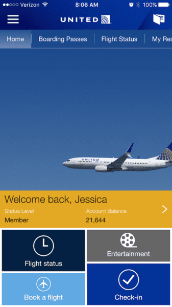United app home