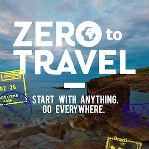Zero to Travel podcast logo