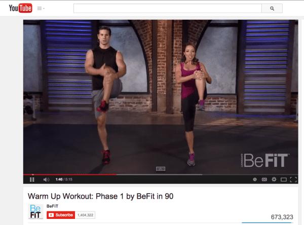 be fit screen shot