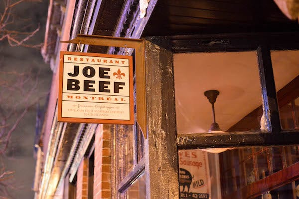 Team dinner at Joe Beef