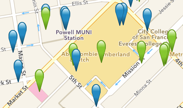 Wi-Fi Finder app map